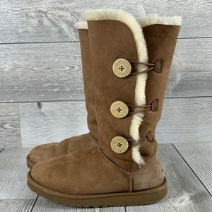 UGG Bailey Button Triplet II Womens Boots Size 9
